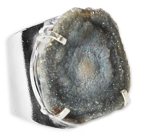 Druzy Shell | Cuff Ring