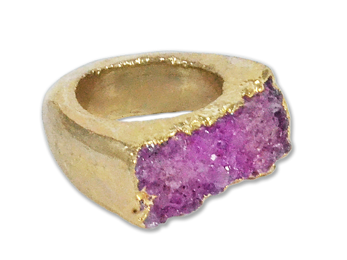 Agate Druzy   Body Plated Rings