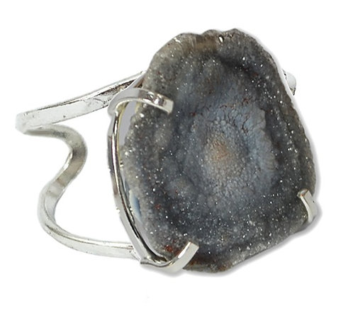 Druzy Shell | Arc Ring