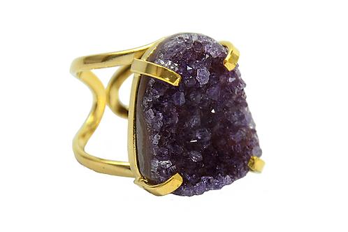 Amethyst | Arc Ring