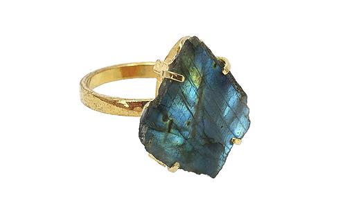 Labradorite | Simple Band Ring