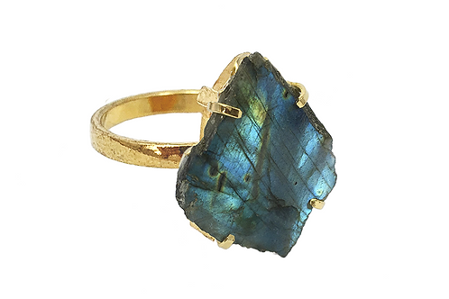 Labradorite | Simple Band Ring