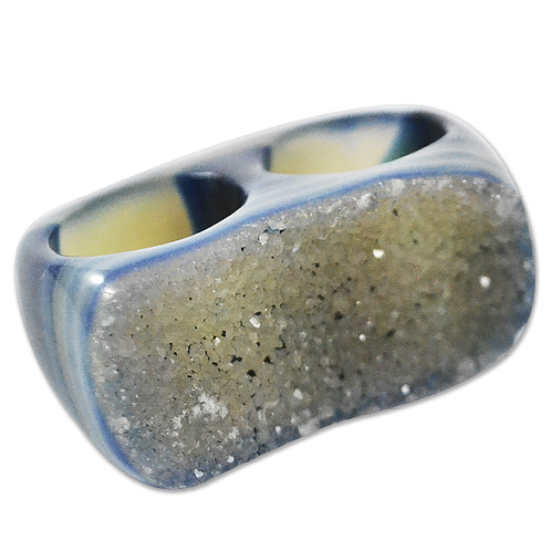 Dyed Druzy Ring (Light) | Double Druzy Rings