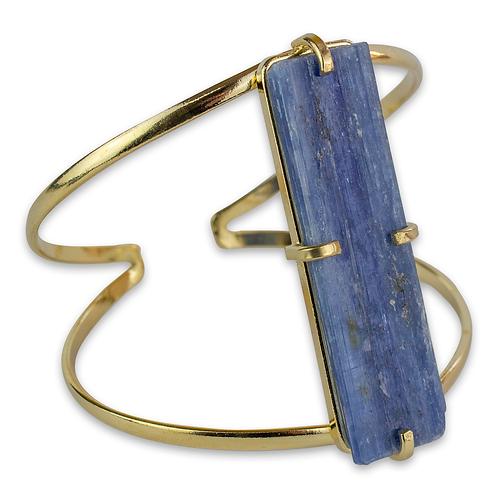 Blue Kyanite   Wire Bracelet