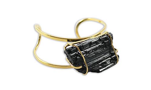 Black Tourmaline | Arc Bracelet