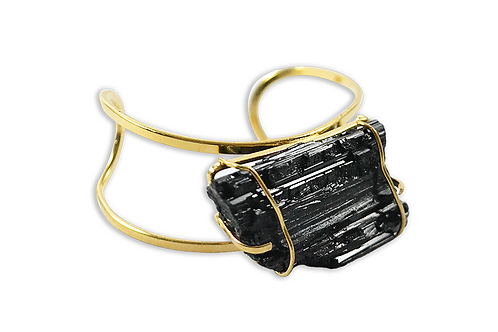 Black Tourmaline | Arc Bracelet