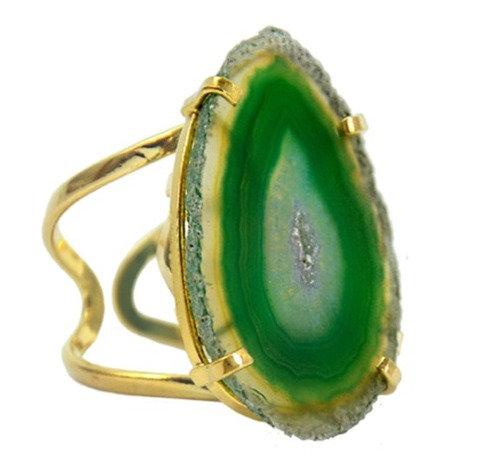 Agate Slice   Arc Ring