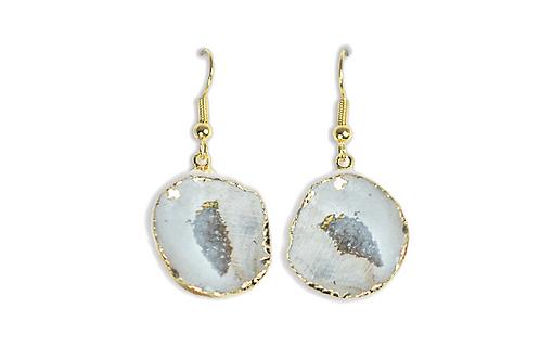 Geode Cave | Electroplated Hook Earrings
