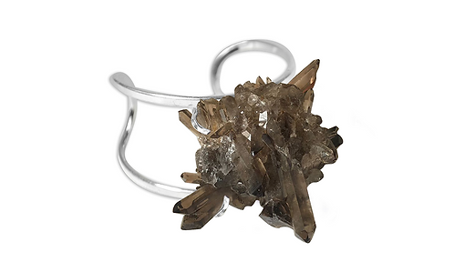 Smoky Crystal   Arc Bracelet