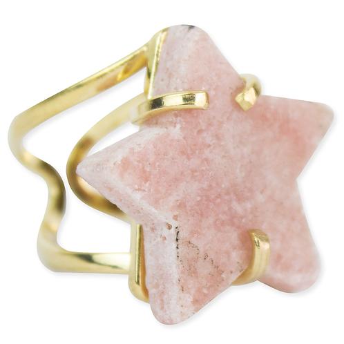 Pink Amethyst (Star) | Arc Ring
