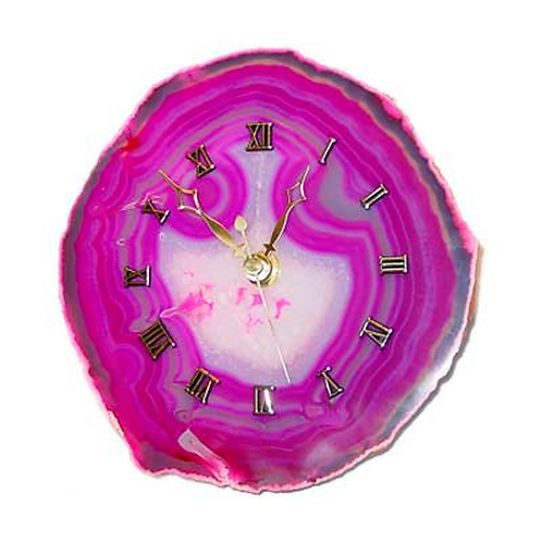 Pink Agate Clocks | Decor Accessories