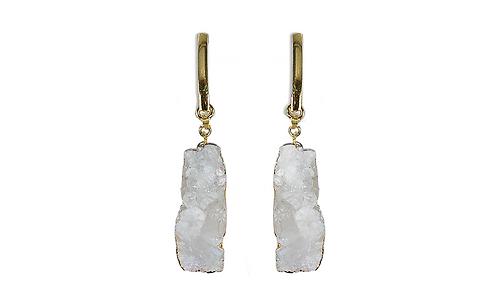 Crystal Cluster   Fancy Dropper Earrings