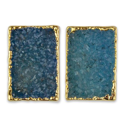 Square Druzy | Shaped Druzy Stud Earrings