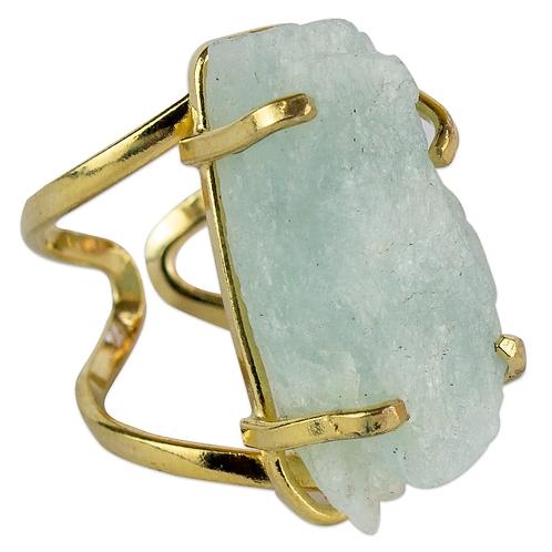 Aquamarine | Arc Ring