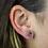 Thumbnail: Drop   Amethyst Druzy Stud Earrings