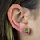 Thumbnail: Mokaite | Shaped Stone Stud Earrings