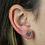 Thumbnail: Rose Quartz | Shaped Stone Stud Earrings