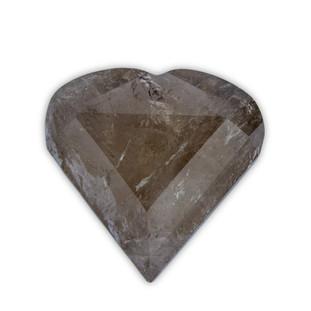 Polished Smokey Quartz Heart