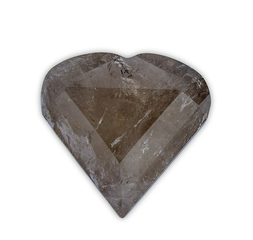 Polished Smokey Quartz Heart   Minerals