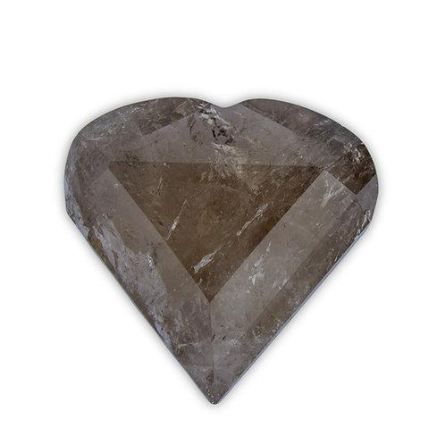 Polished Smokey Quartz Heart | Minerals