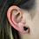 Thumbnail: Heart Druzy | Shaped Druzy Stud Earrings
