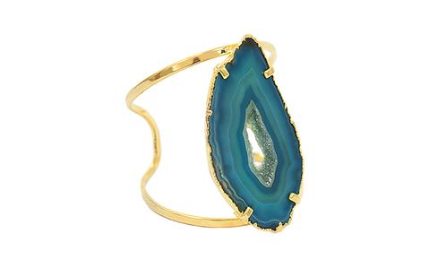 Agate Slice | Arc Bracelet