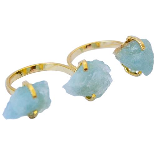 Aquamarine   Triple Gem Rings