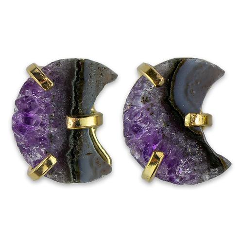 Amethyst | Fancy Claw Stud Earrings