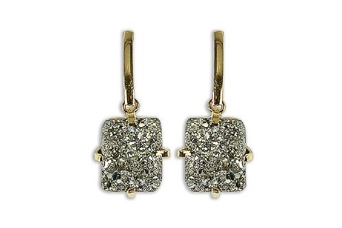 Pyrite | Fancy Dropper Earrings