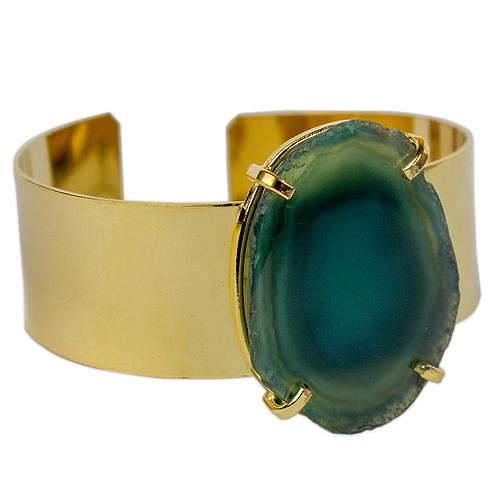 Agate Slice   Cuff Bracelets