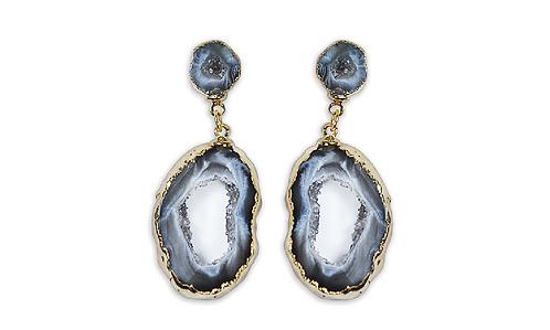 Geode   Dropper Earrings
