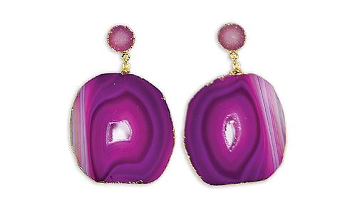 Agate Druzy | Dropper Earrings