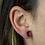 Thumbnail: Moon | Amethyst Druzy Stud Earrings