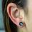 Thumbnail: Black Geode   Geode Stud Earrings