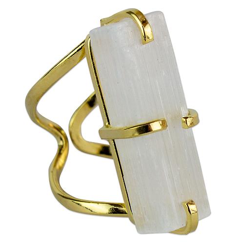 Selenite | Arc Ring