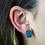 Thumbnail: Square Druzy | Shaped Druzy Stud Earrings