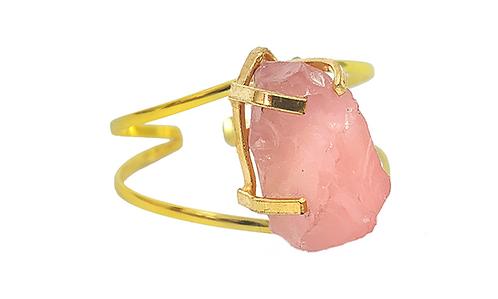Rose Quartz | Wire Bracelet