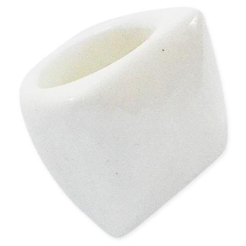 White Quartz | Polished Rings