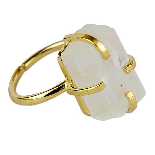 Selenite   Simple Band Rings