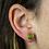 Thumbnail: Lemon Jasper | Shaped Stone Stud Earrings