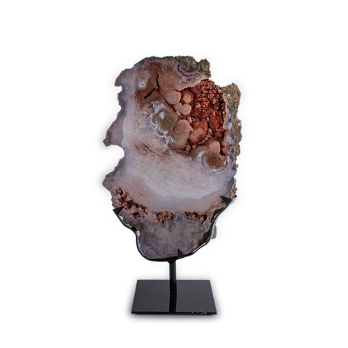 Freeform Slabs on Metal Stands Quality A | Pink Amethyst