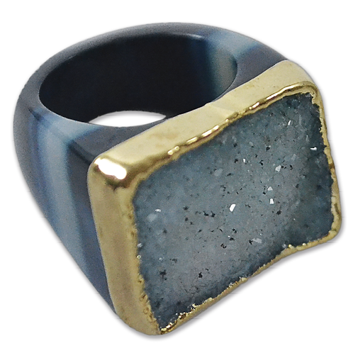 Blue Ring | Crown Plated Rings