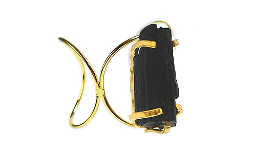 Black Tourmaline   Loop Bracelet