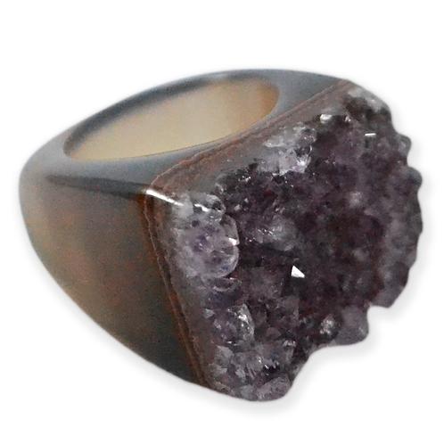 Amethyst   Druzy Rings
