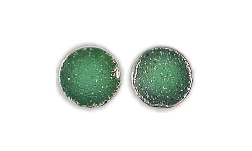 Green Druzy | Druzy Stud Earrings