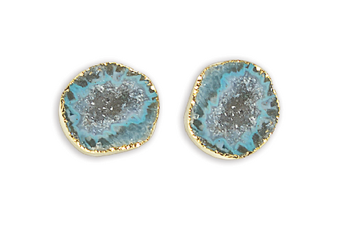 Geode Cave | Electroplated Studs