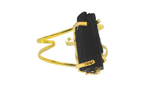 Black Tourmaline   Wire Bracelet