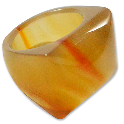 Natural Agate | Polished Rings