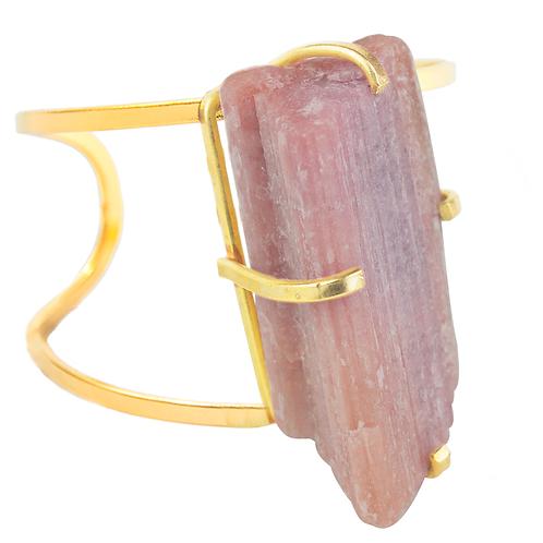 Pink Tourmaline   Arc Bracelet