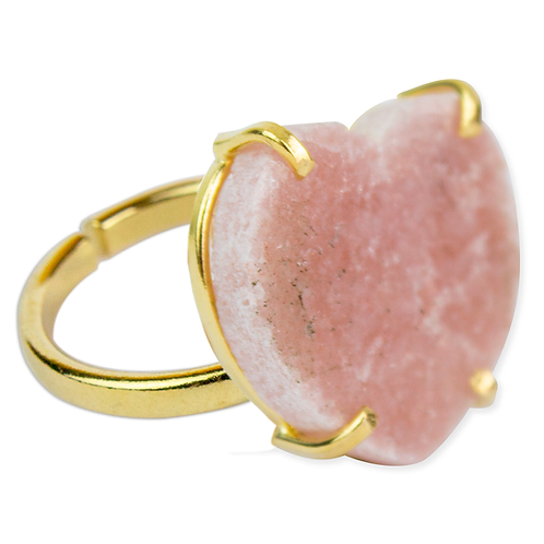 Pink Amethyst (Heart) | Simple Band Rings